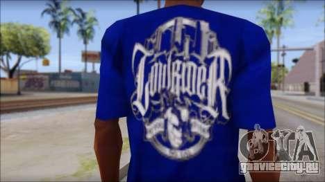 Lowrider Blue T-Shirt для GTA San Andreas третий скриншот
