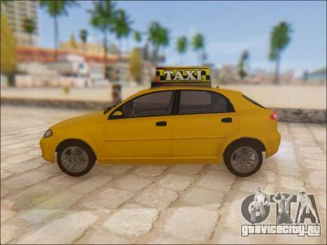 Chevrolet Lacetti Taxi для GTA San Andreas вид слева