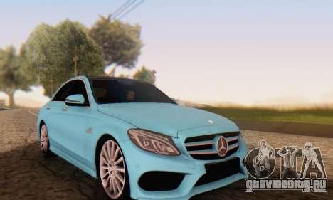 Mercedes-Benz C250 AMG для GTA San Andreas вид сзади