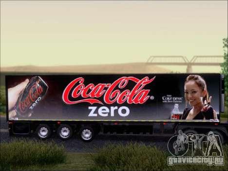 Прицеп Chereau Coca Cola Zero Truck для GTA San Andreas вид сзади