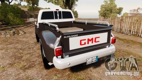 GMC 454 Pick-Up для GTA 4 вид сзади слева