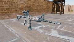 Автоматический карабин М4А1 Melted snow Camo для GTA 4