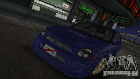 Subaru Impreza WRX 2002 Type 2 для GTA Vice City вид сзади слева