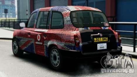 London Taxi Cab v2 для GTA 4 вид слева