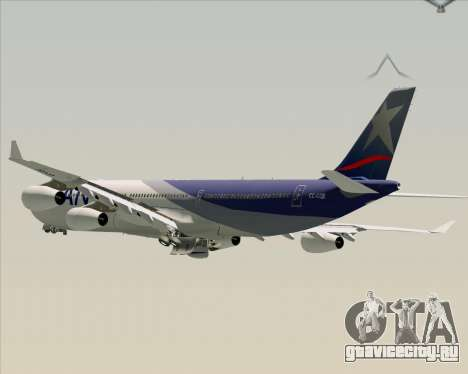 Airbus A340-313 LAN Airlines для GTA San Andreas колёса