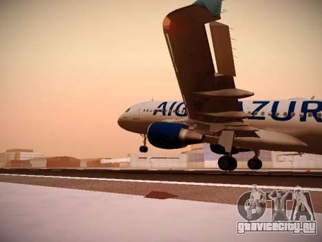 Airbus A320-211 Aigle Azur для GTA San Andreas салон