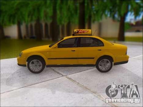 Chevrolet Evanda Taxi для GTA San Andreas вид слева