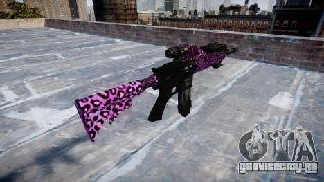 Автоматический карабин Colt M4A1 party rock для GTA 4 второй скриншот