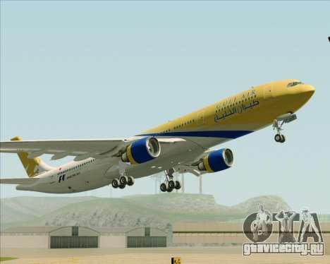 Airbus A330-300 Gulf Air для GTA San Andreas вид изнутри