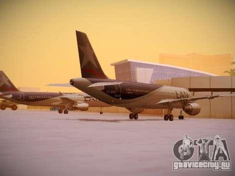 Airbus A320-214 LAN Airlines для GTA San Andreas вид справа