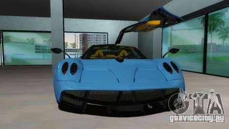 Pagani Huayra 2012 для GTA Vice City вид сзади слева