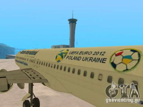 Boeing 737-84R Ukraine International Airlines для GTA San Andreas вид сбоку