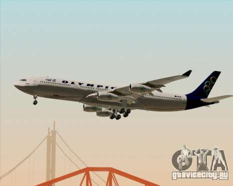 Airbus A340-313 Olympic Airlines для GTA San Andreas вид снизу