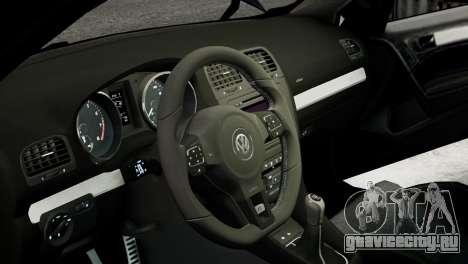 Volkswagen Golf R 2010 MTM Paintjob для GTA 4 вид изнутри
