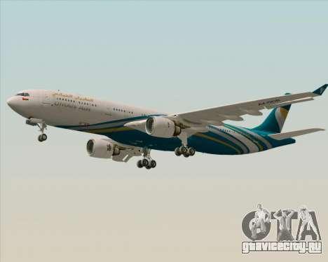 Airbus A330-300 Oman Air для GTA San Andreas вид сбоку