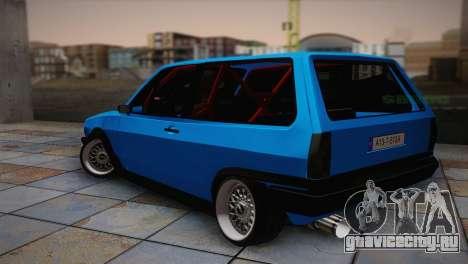 Volkswagen Polo для GTA San Andreas вид слева