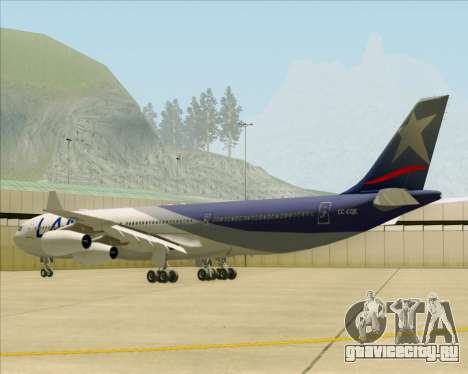 Airbus A340-313 LAN Airlines для GTA San Andreas вид справа