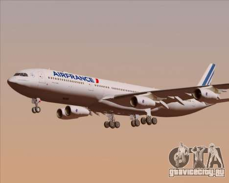 Airbus A340-313 Air France (New Livery) для GTA San Andreas двигатель