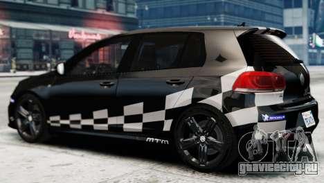 Volkswagen Golf R 2010 MTM Paintjob для GTA 4 вид слева