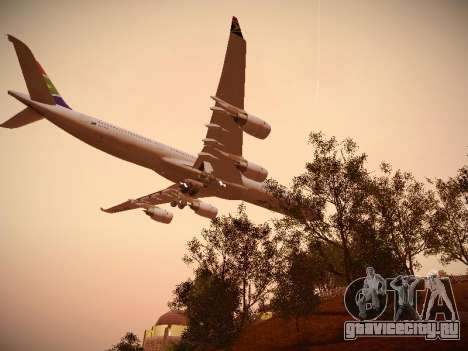 Airbus A340-600 South African Airways для GTA San Andreas вид сверху