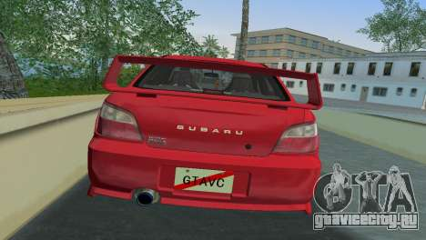 Subaru Impreza WRX 2002 Type 6 для GTA Vice City вид сзади