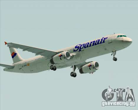 Airbus A321-231 Spanair для GTA San Andreas вид сбоку