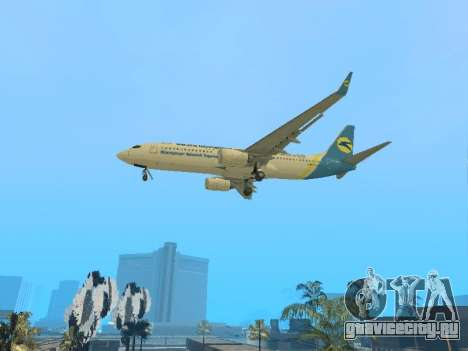 Boeing 737-84R Ukraine International Airlines для GTA San Andreas вид сзади