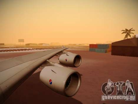Airbus A380-800 Korean Air для GTA San Andreas вид снизу