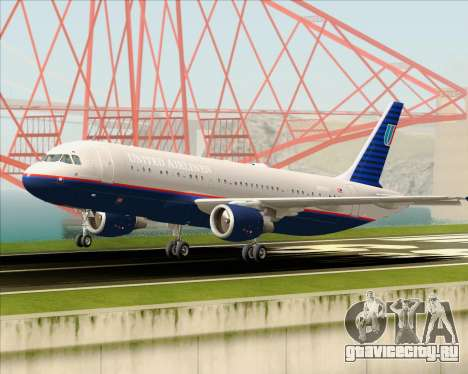 Airbus A320-232 United Airlines (Old Livery) для GTA San Andreas вид сверху
