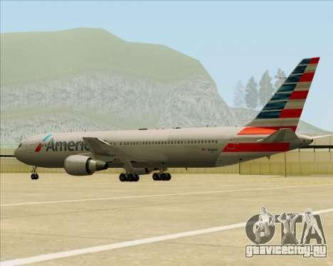 Boeing 767-323ER American Airlines для GTA San Andreas вид сверху