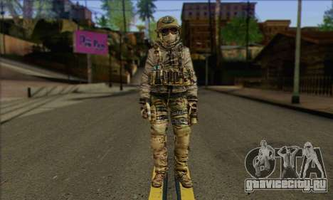 Task Force 141 (CoD: MW 2) Skin 7 для GTA San Andreas
