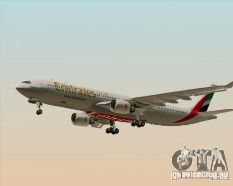 Airbus A330-300 Emirates для GTA San Andreas вид снизу