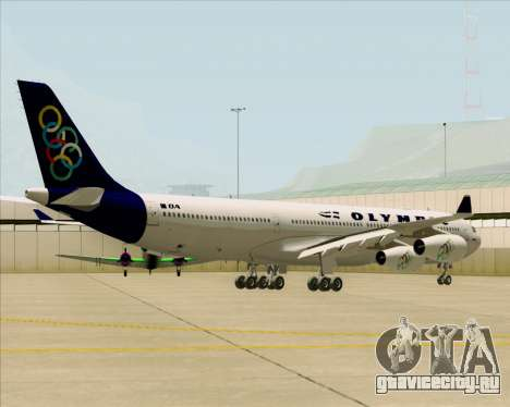 Airbus A340-313 Olympic Airlines для GTA San Andreas вид сзади
