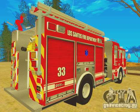 Pierce Arrow XT 2008 Los Santos Fire Department для GTA San Andreas вид сзади слева