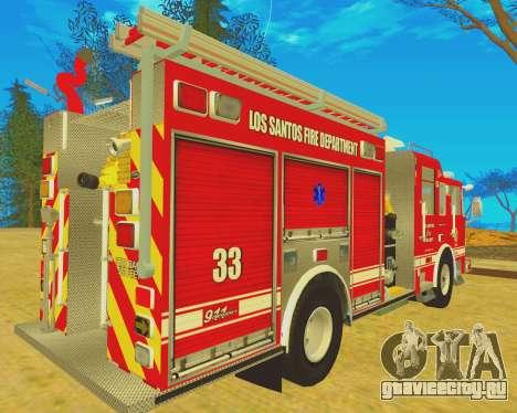 Pierce Arrow XT 2008 Los Santos Fire Department для GTA San Andreas вид сзади слева
