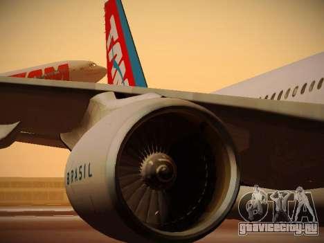 Airbus A330-200 TAM Airlines для GTA San Andreas колёса