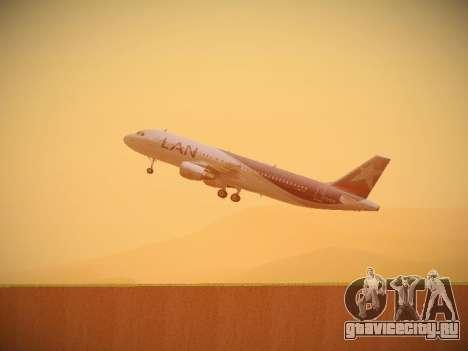 Airbus A320-214 LAN Airlines для GTA San Andreas вид снизу