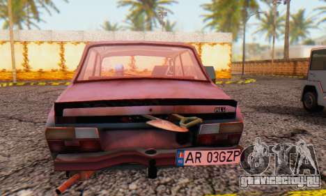 Dacia 1310 MLS Rusty Edition 1988 для GTA San Andreas вид сзади слева