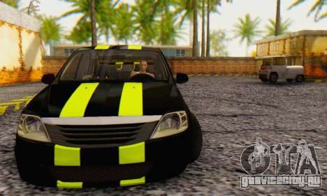 Dacia Logan Black Style для GTA San Andreas вид слева