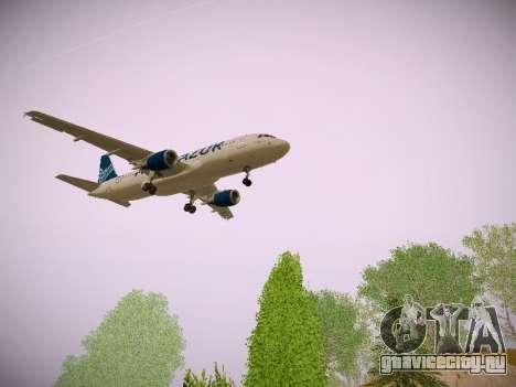 Airbus A320-211 Aigle Azur для GTA San Andreas вид сзади