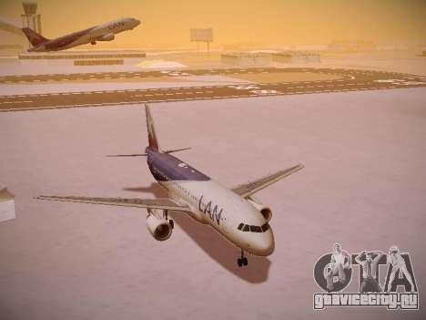 Airbus A320-214 LAN Airlines для GTA San Andreas салон