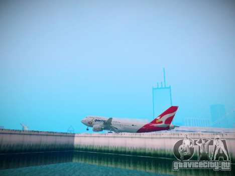 Boeing 747-438 Qantas Boxing Kangaroo для GTA San Andreas вид сзади