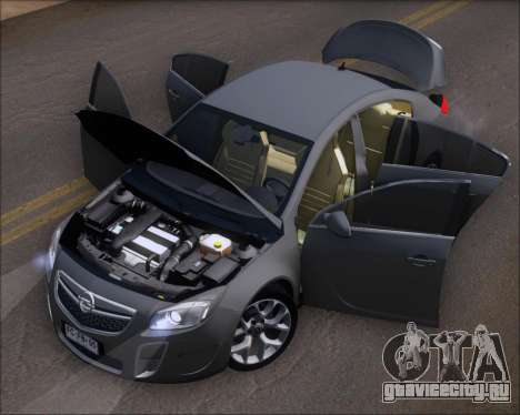 Opel Insignia OPC для GTA San Andreas вид сбоку