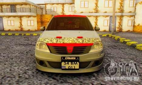 Dacia Logan Turkey Tuning для GTA San Andreas вид сзади