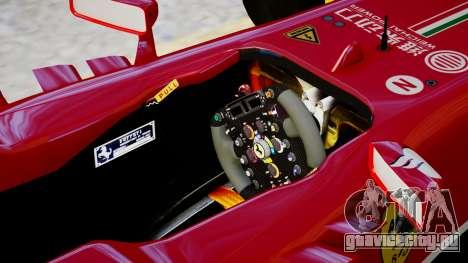 Ferrari F138 v2 для GTA 4 вид изнутри