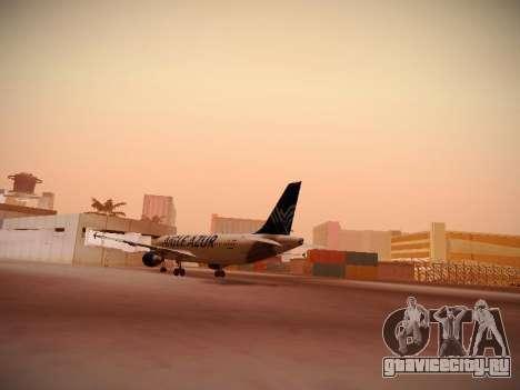 Airbus A320-211 Aigle Azur для GTA San Andreas вид сзади слева