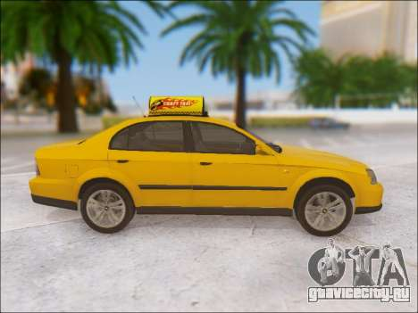 Chevrolet Evanda Taxi для GTA San Andreas вид изнутри