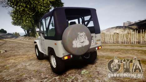 Toyota FJ40 Land Cruiser Soft Top 1978 для GTA 4 вид сзади слева