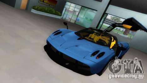 Pagani Huayra 2012 для GTA Vice City вид сзади