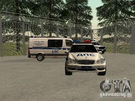 Мерседес Дпс для GTA San Andreas вид сзади слева